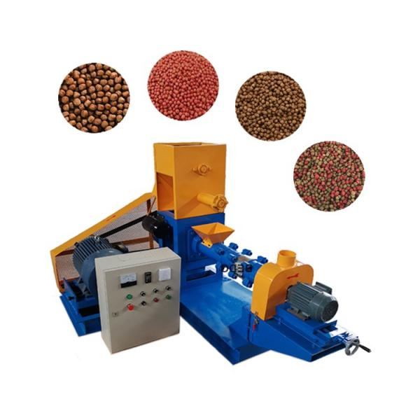 China Factory Floating Fish Pellet Extruder / 1-2tph Fish Feed Machine Price